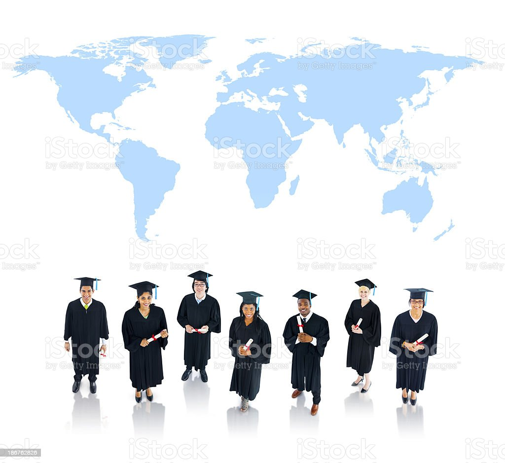 Graduating Students stock photo