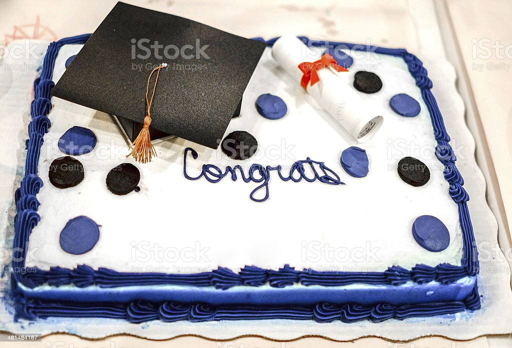 Graduation Cake stock photo