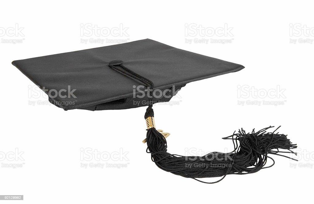 Graduation Cap on White royalty-free stock photo