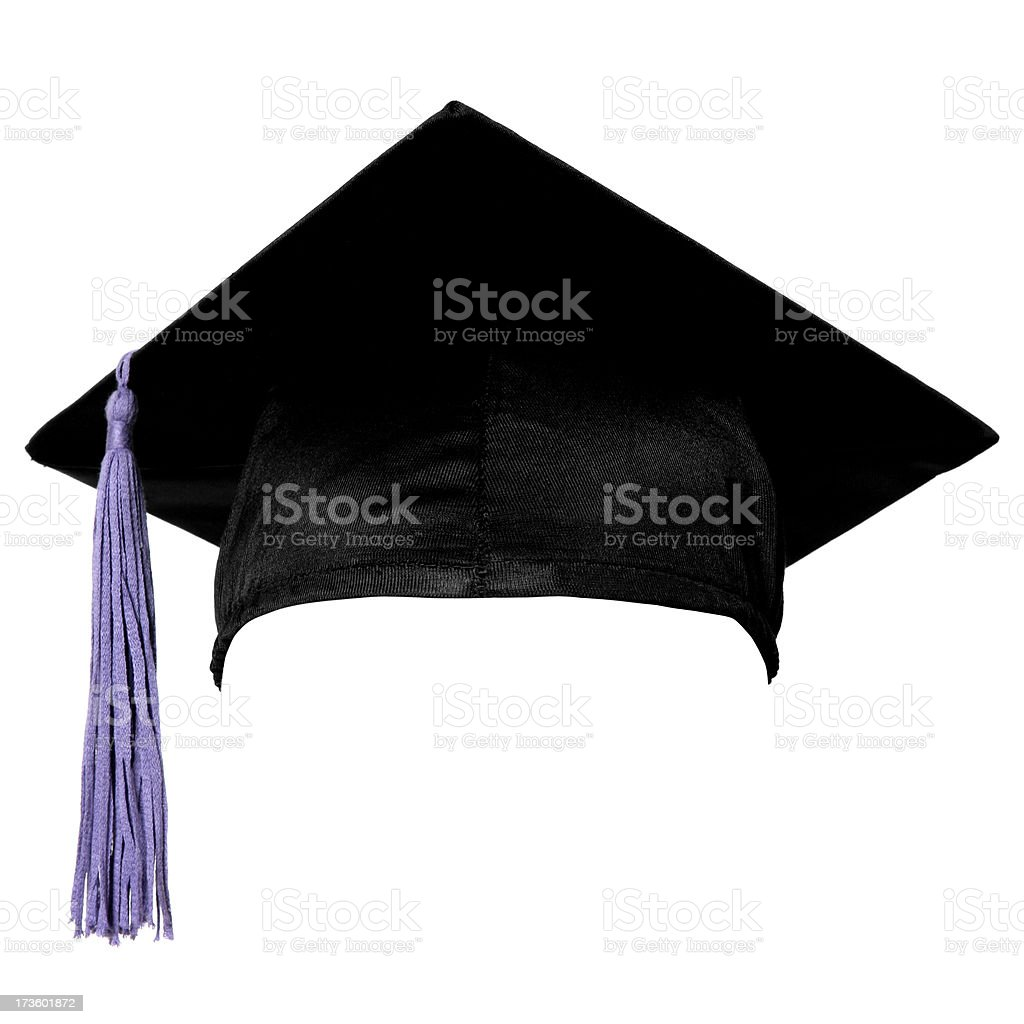 Graduation cap (isolated on white) royalty-free stock photo