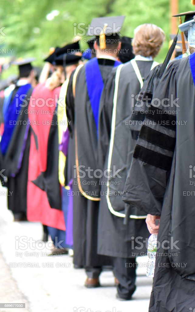 Graduation Celebration at Annandale-on-Hudson, New York, USA May 27, 2017 stock photo