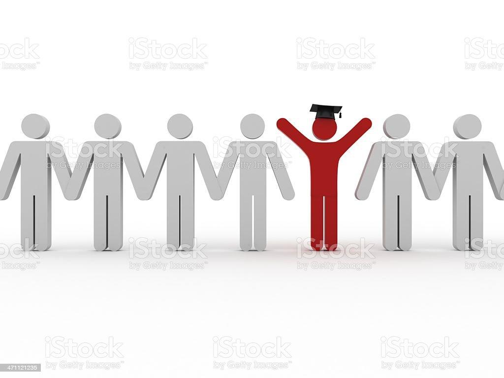 Graduation Concept royalty-free stock photo