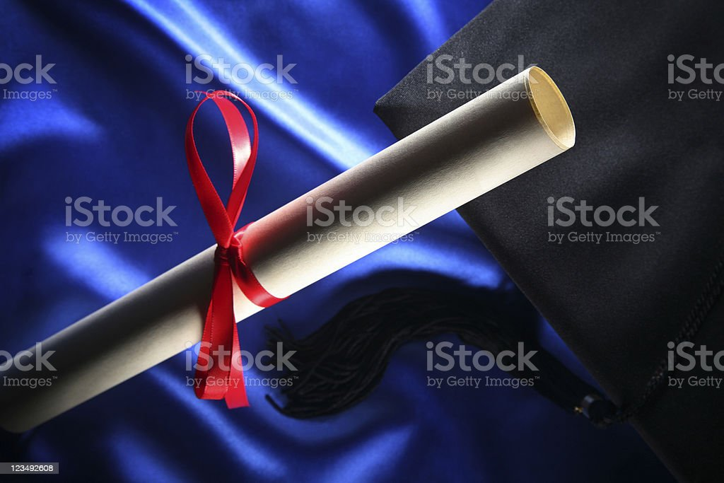 Graduation Diploma stock photo