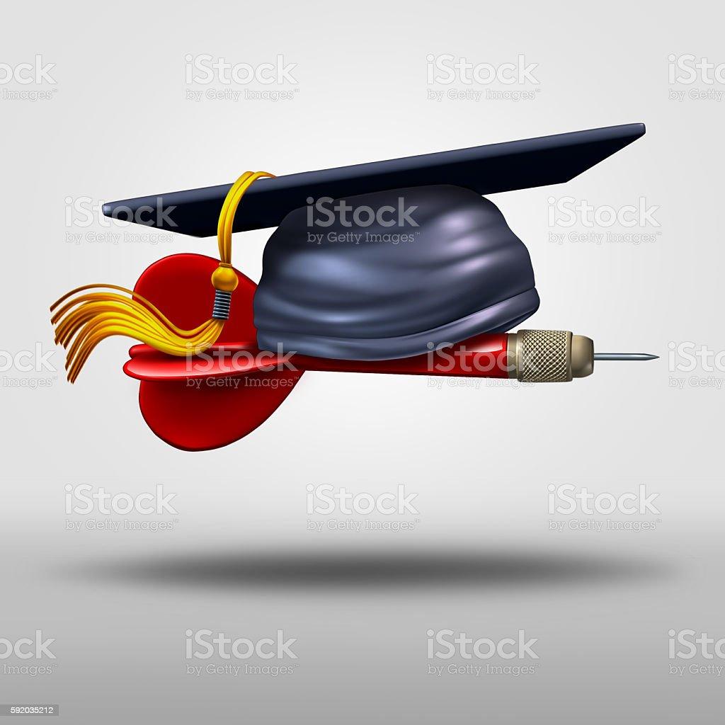 Graduation Goal stock photo