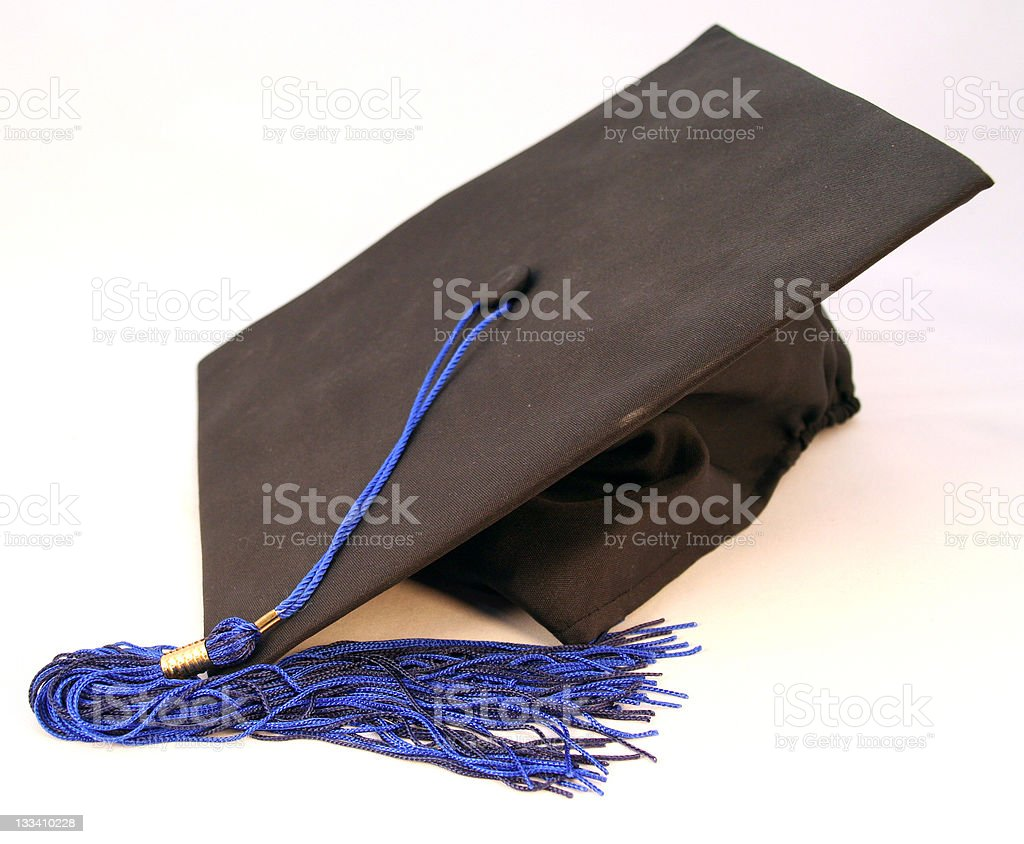 Graduation gown cap royalty-free stock photo
