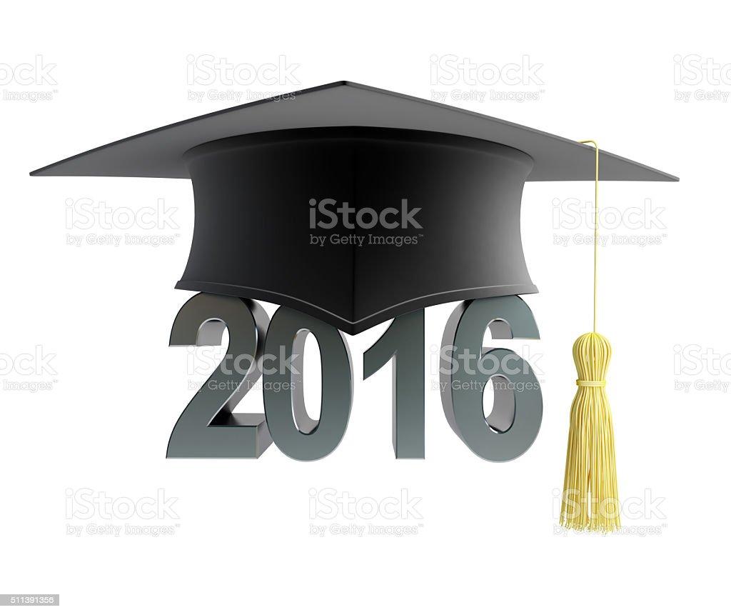 graduation hat 2016 stock photo