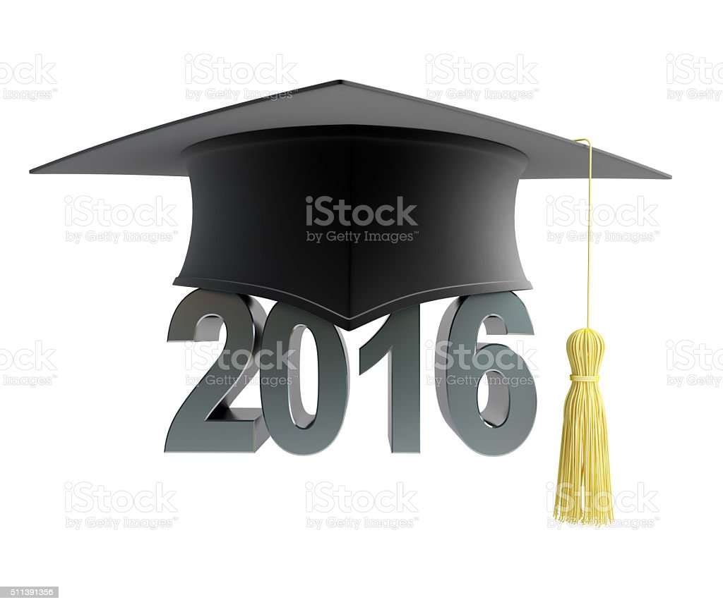 graduation hat 2016 stock photo