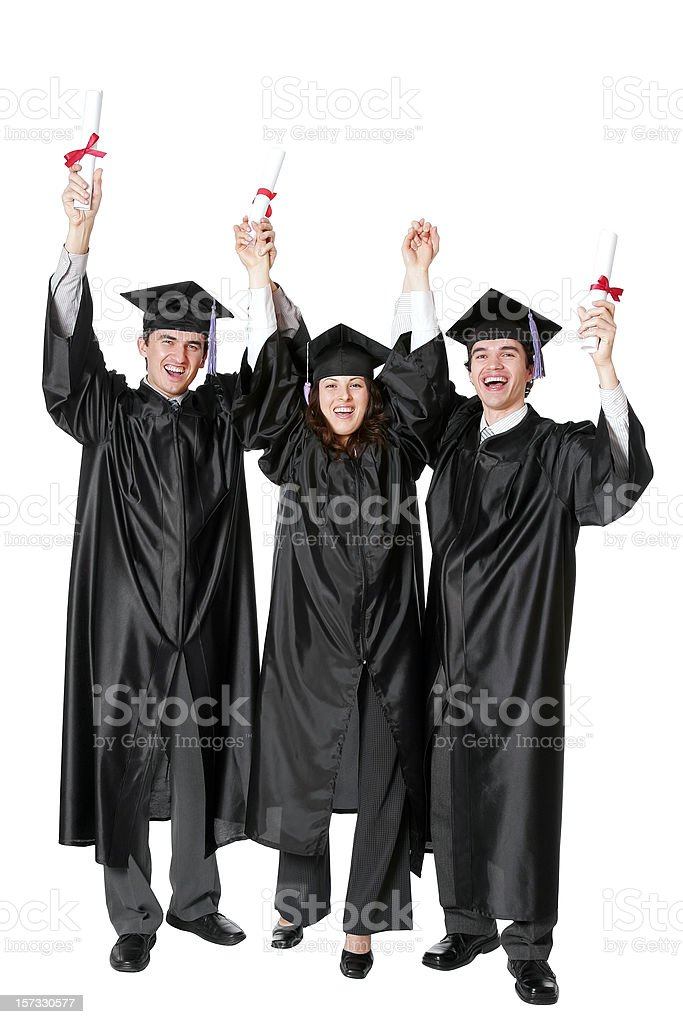 Graduation Hurray royalty-free stock photo