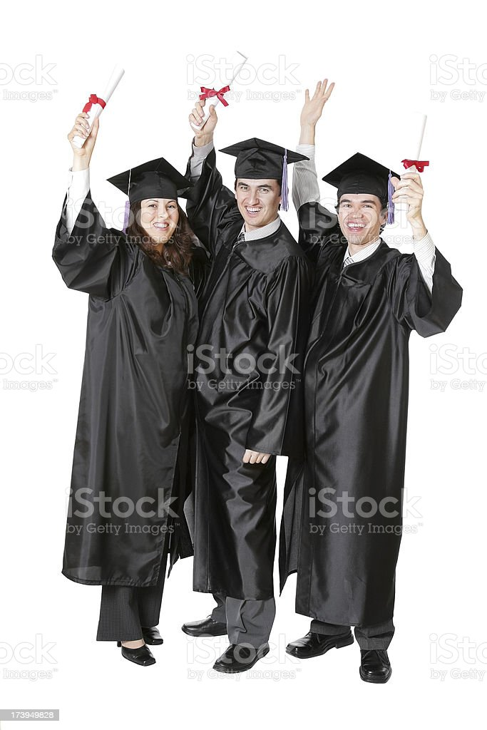 Graduation Hurray royalty-free stock photo