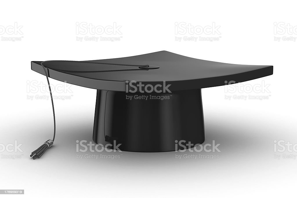Graduation. Isolated 3D image on white background royalty-free stock photo