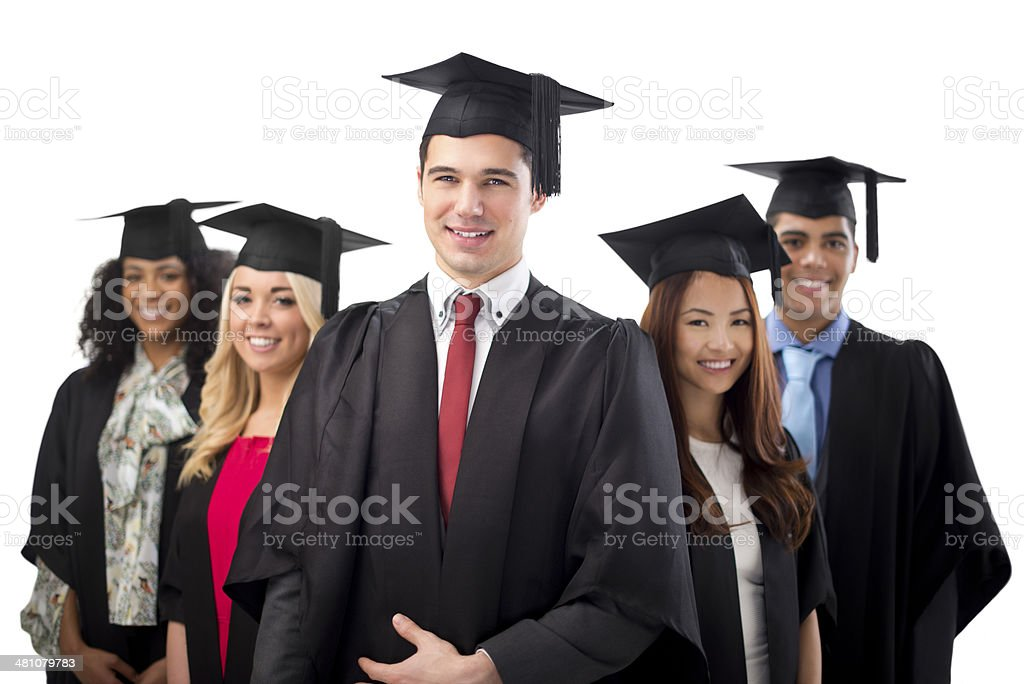 graduation line stock photo