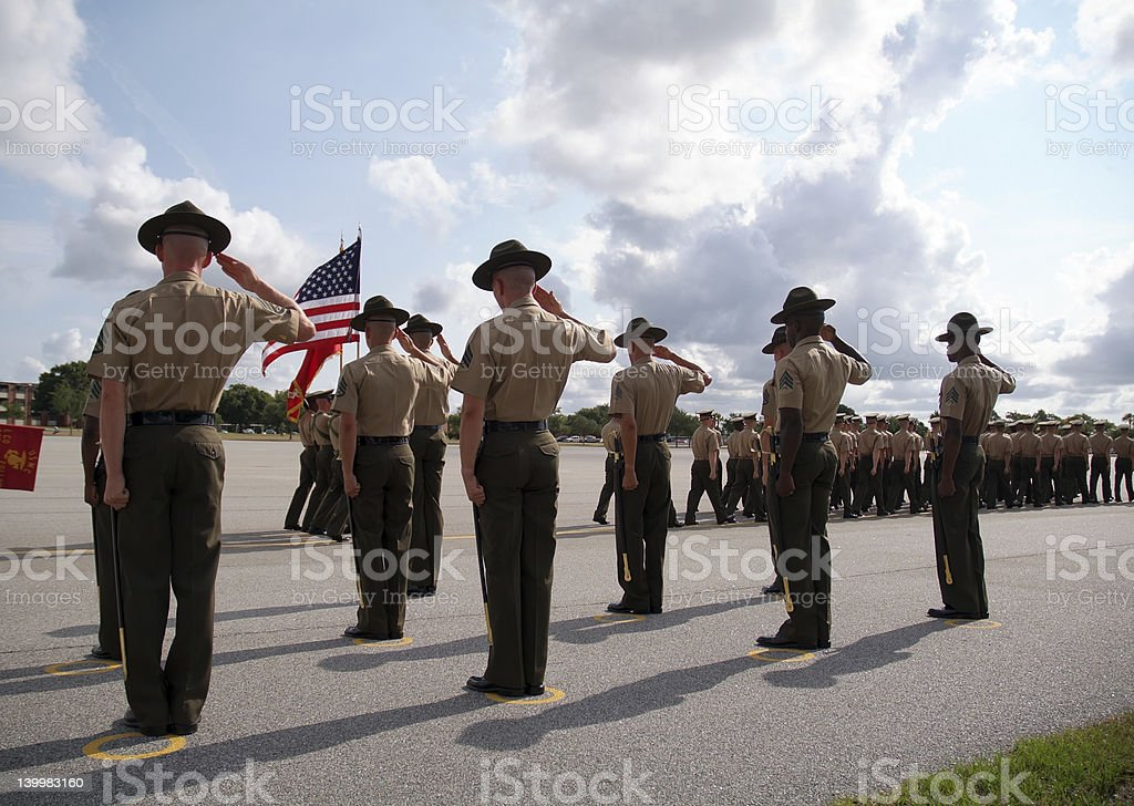 Graduation of Marines from Parris Island 02 royalty-free stock photo