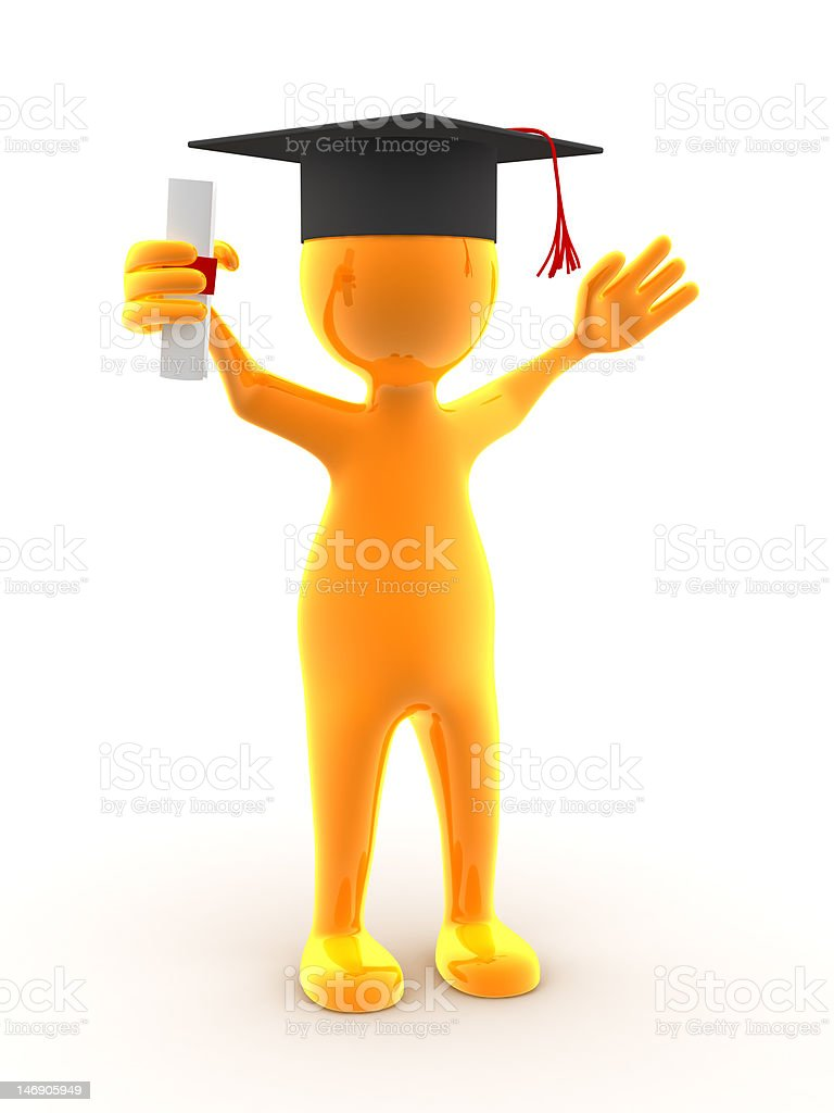Graduation (XXL) royalty-free stock photo