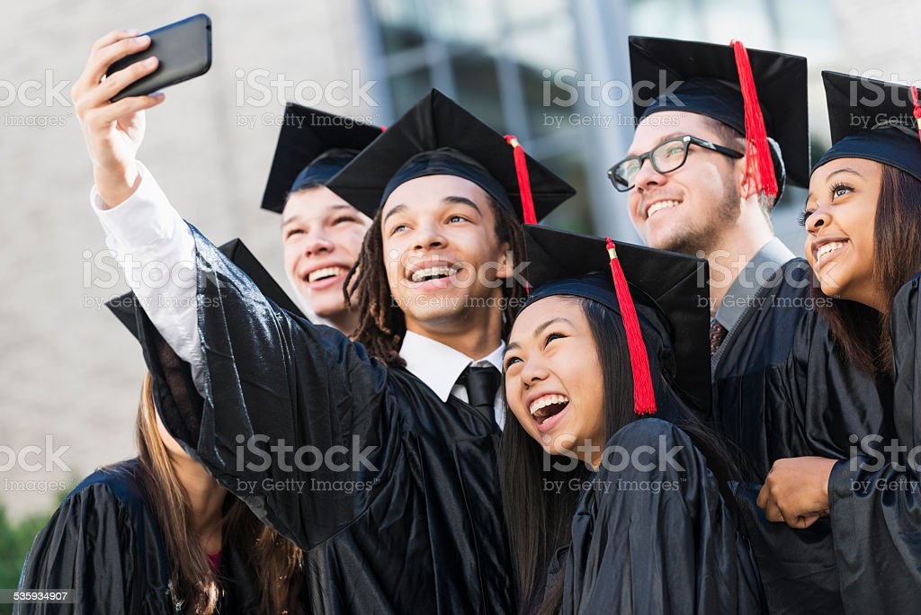 Graduation selfie stock photo