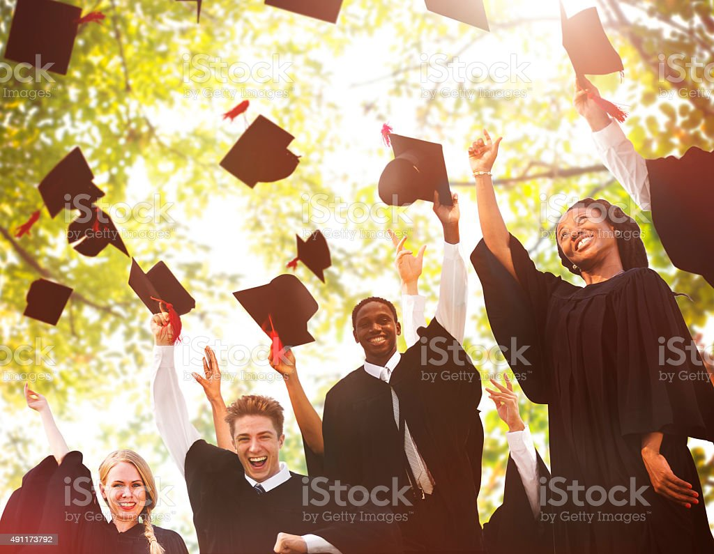 Graduation Student Commencement University Degree Concept stock photo