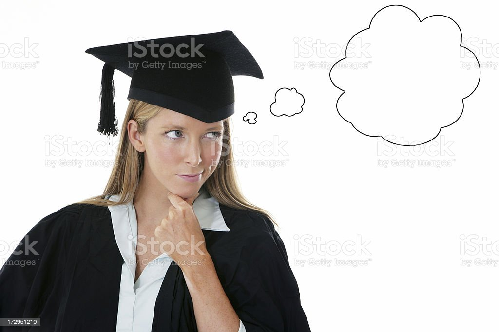 Graduation Thoughts royalty-free stock photo