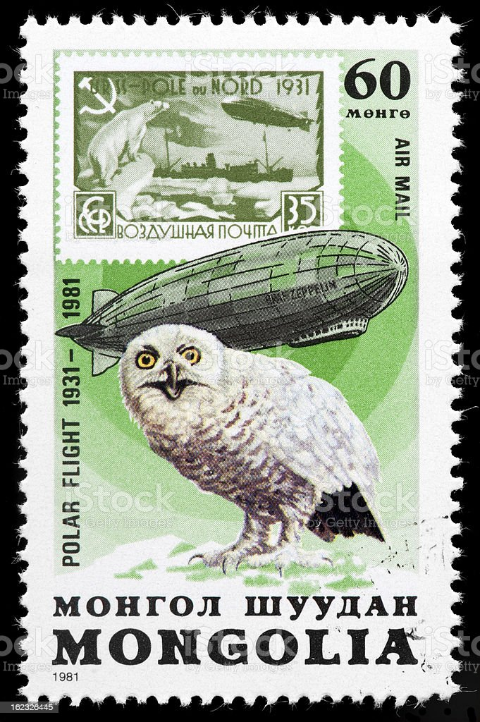 Graf Zeppelin Postage Stamp royalty-free stock photo