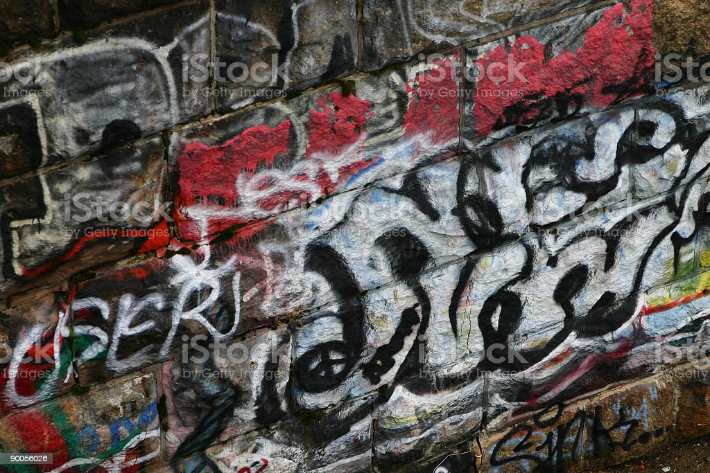 Graffiti and Metal royalty-free stock photo
