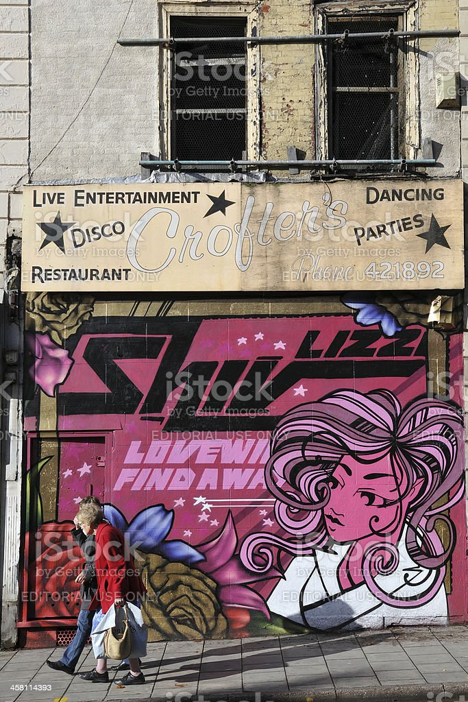 Graffiti Art on a Derelict Building royalty-free stock photo