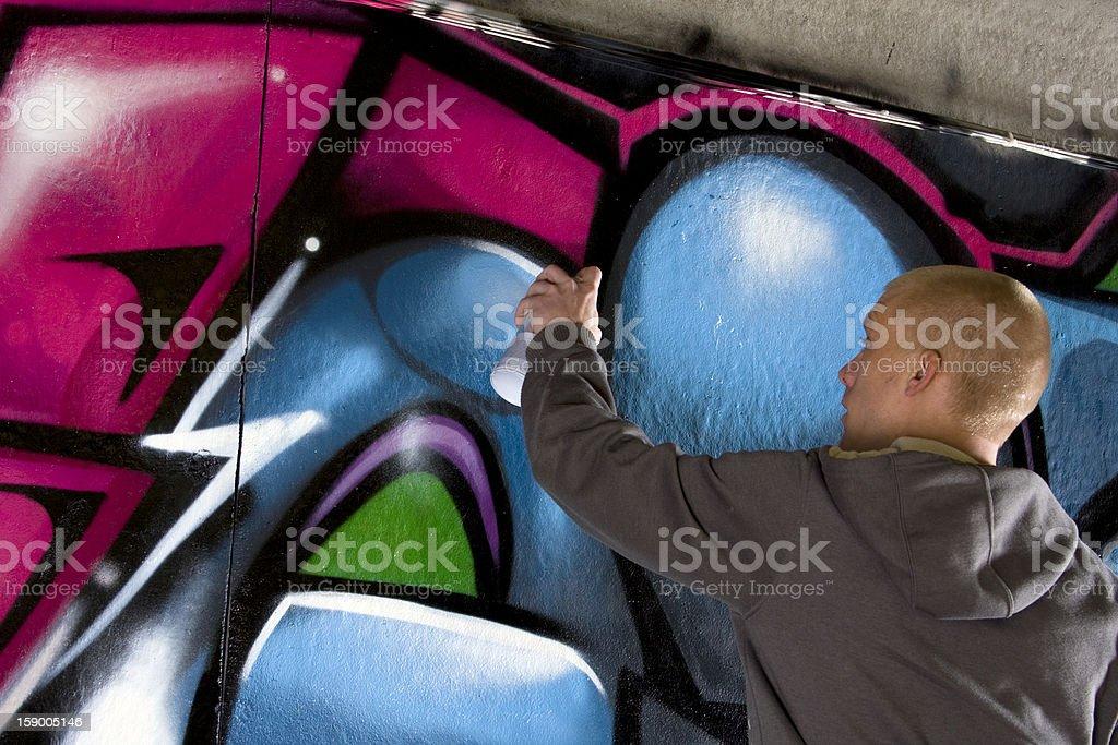 Graffiti Artist royalty-free stock photo
