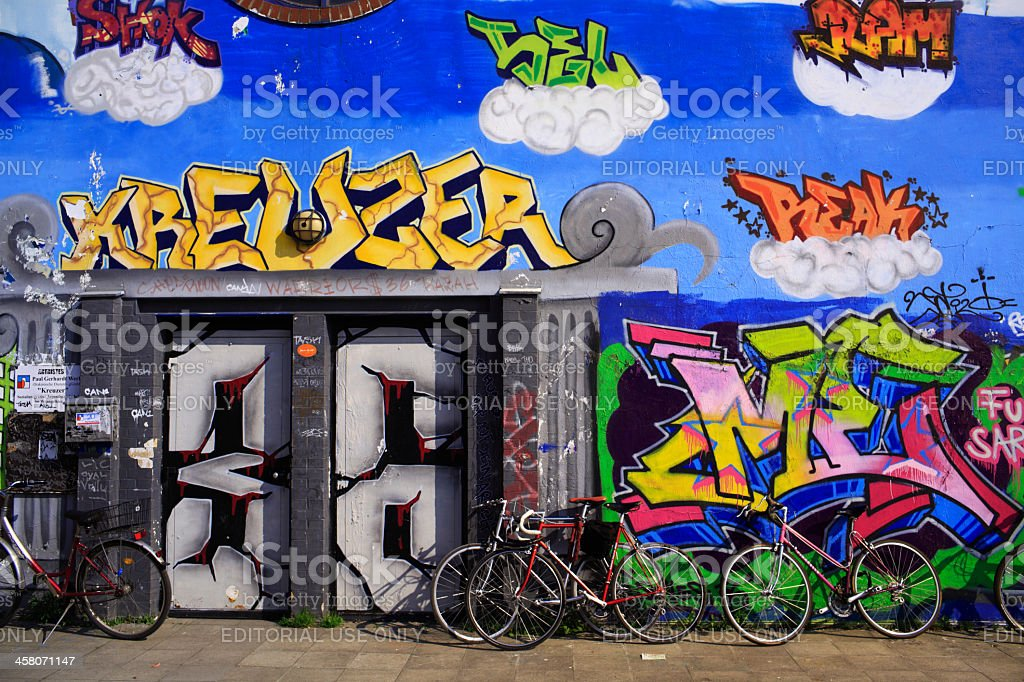 Graffiti at Kreuzberg Berlin Germany stock photo