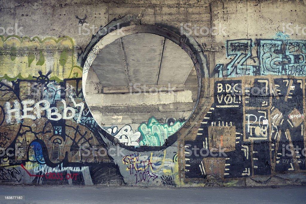 graffiti at the wall royalty-free stock photo
