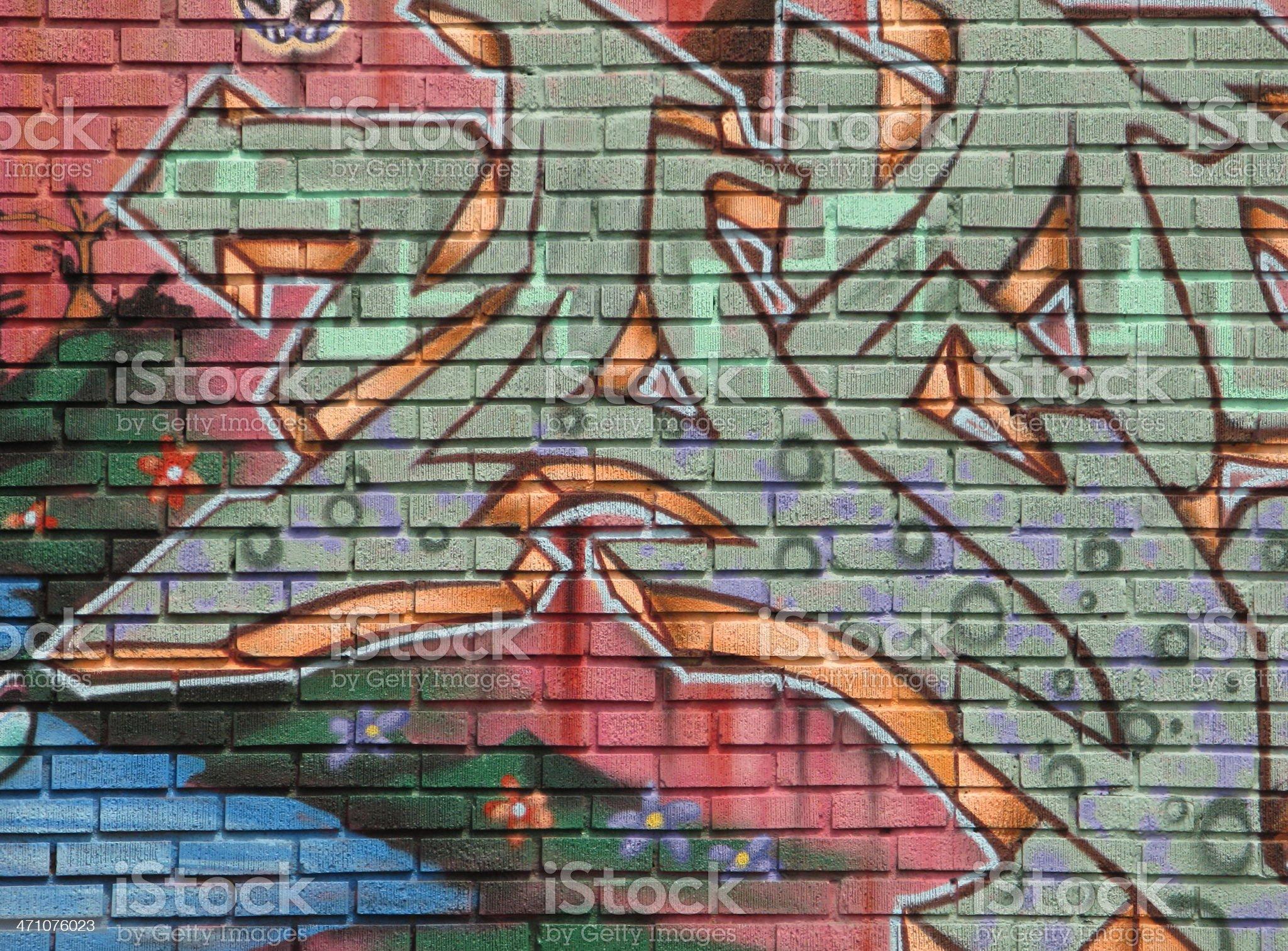 Graffiti Brick Wall Art royalty-free stock vector art