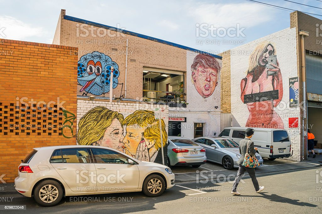 Graffiti by Lushsux (formerly Lush) in Melbourne stock photo