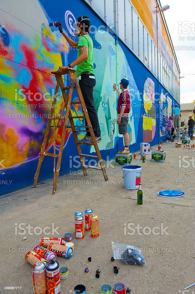 Graffiti culture in Berlin royalty-free stock photo