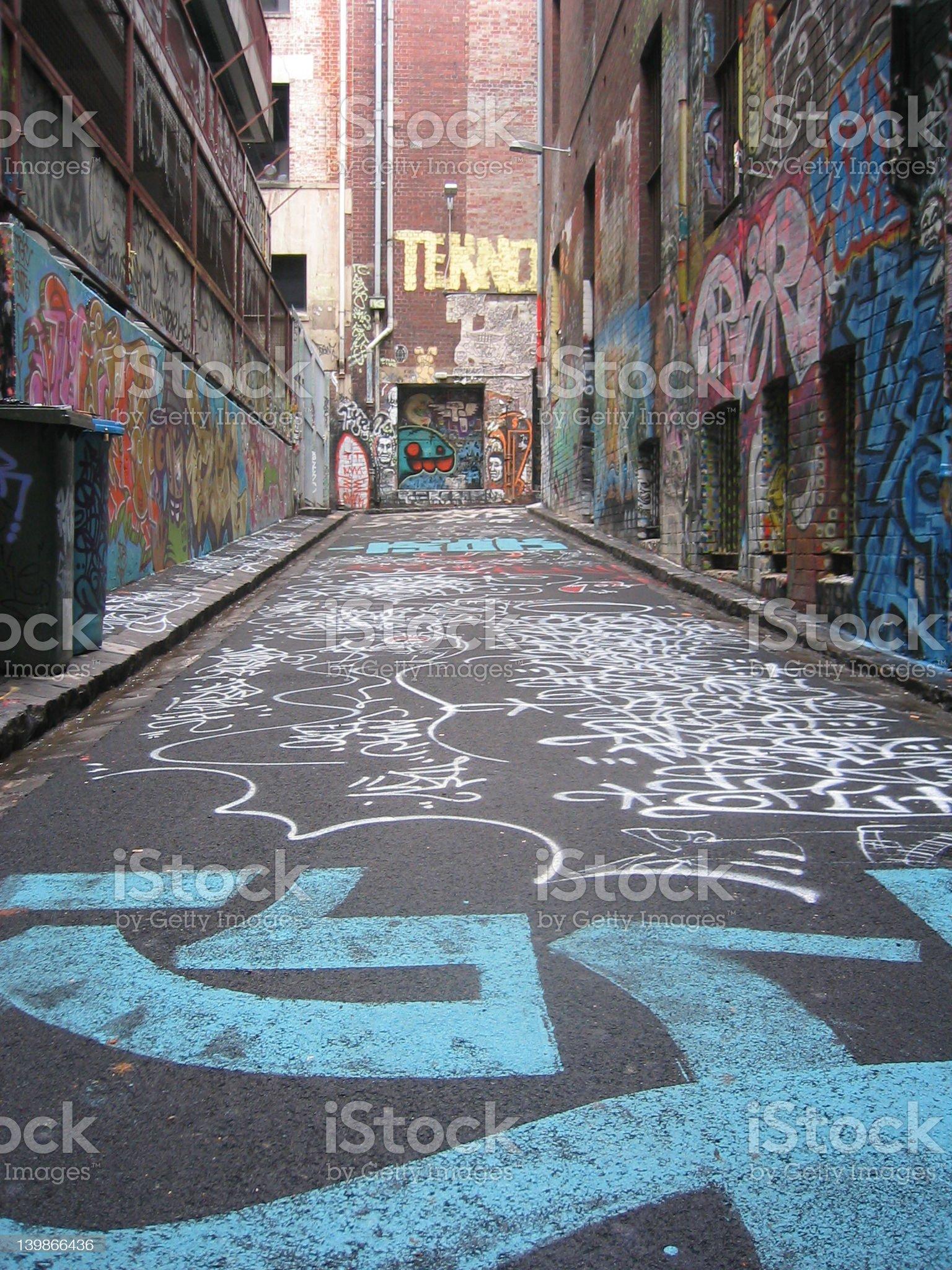 Graffiti everywhere royalty-free stock photo