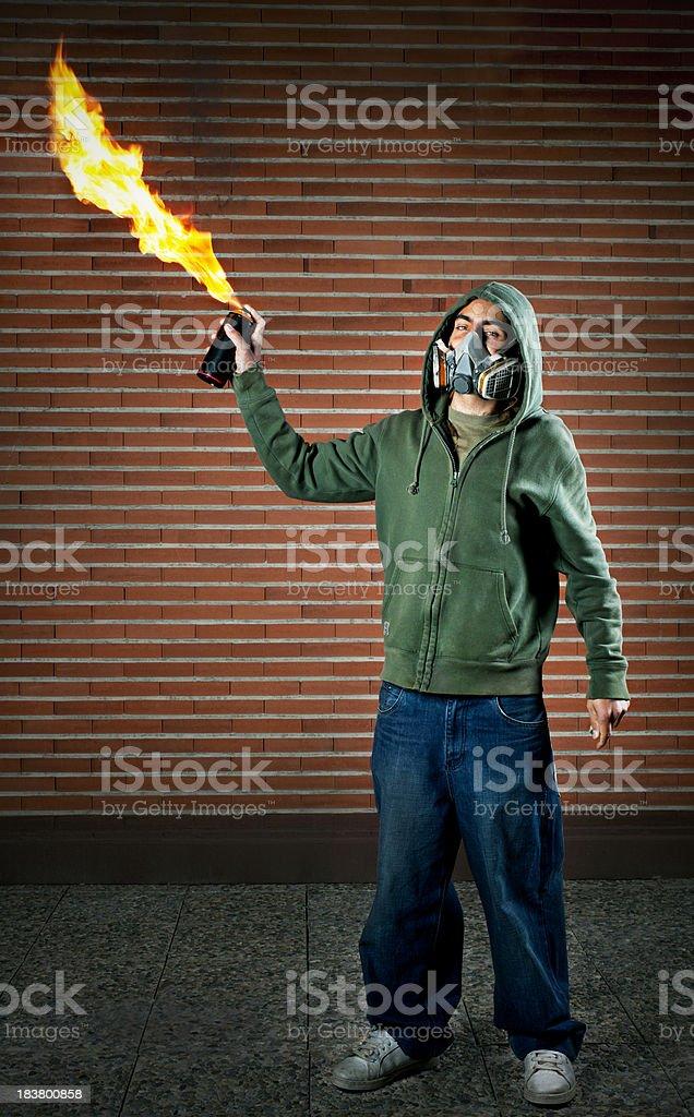 Graffiti fire royalty-free stock photo