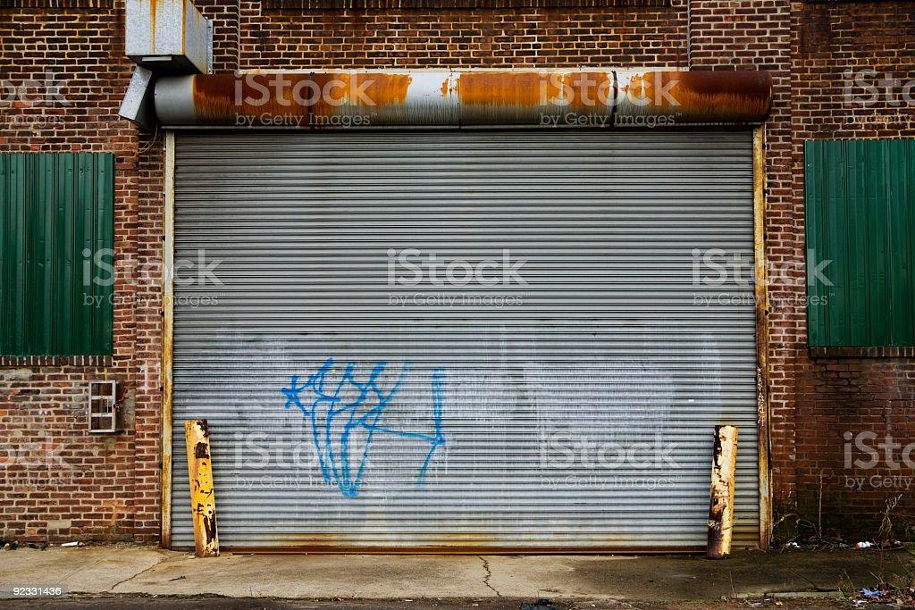 graffiti garage stock photo