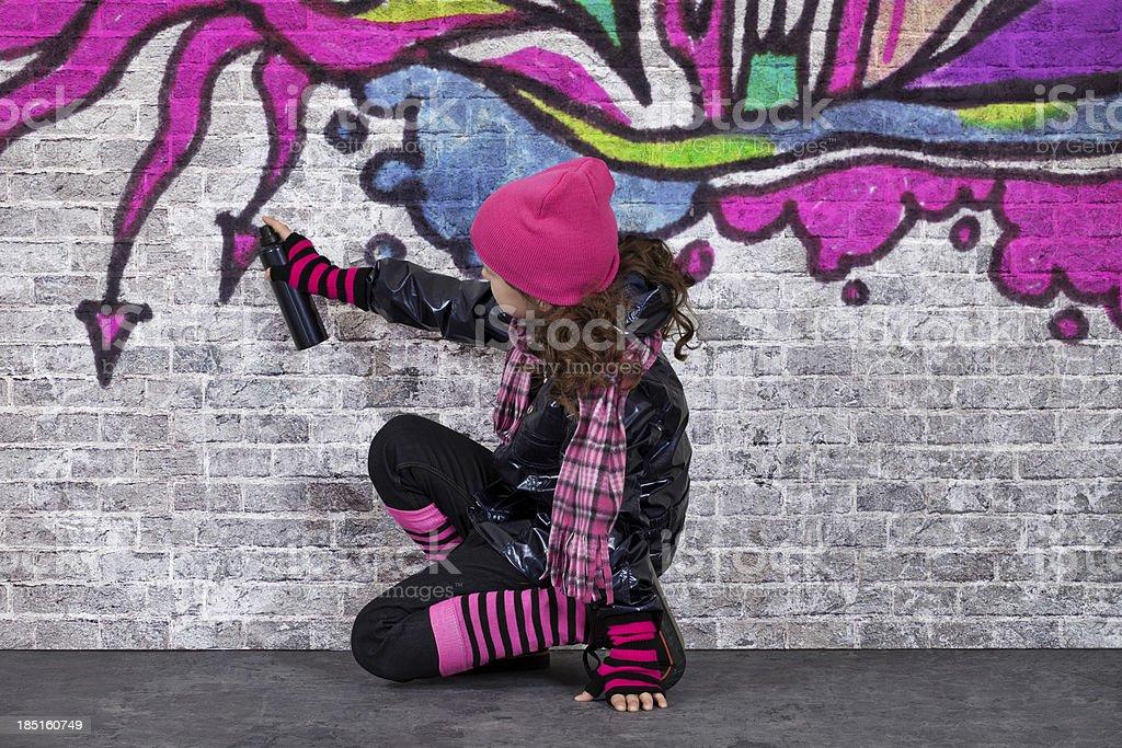 Graffiti Girl stock photo