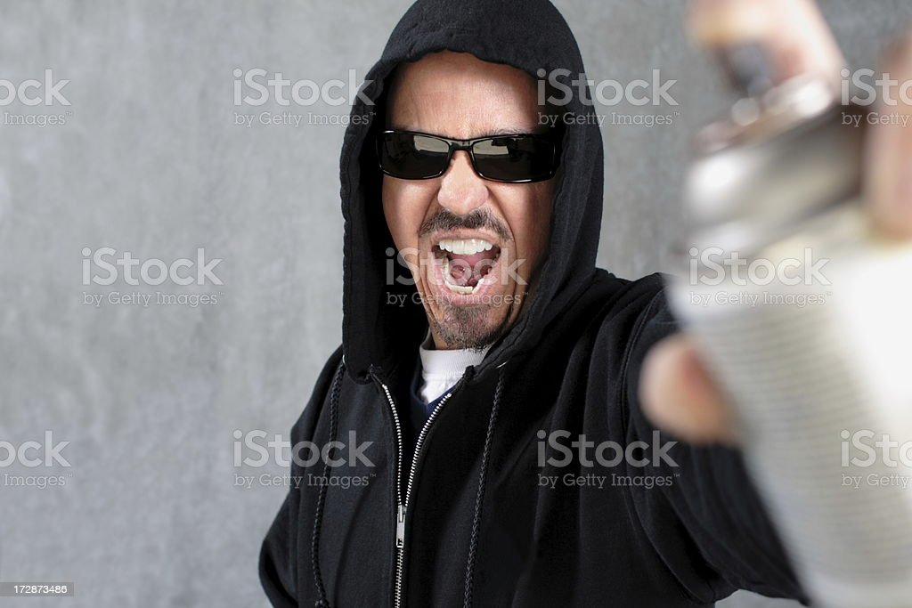 Graffiti Guy stock photo