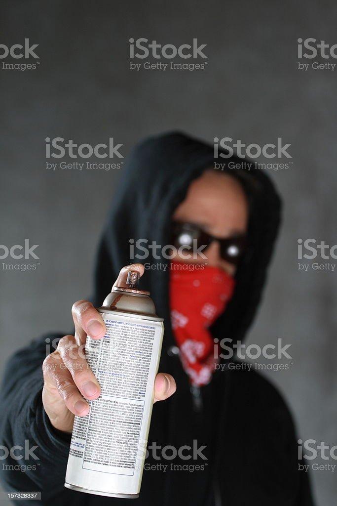 Graffiti Guy with Bandana stock photo