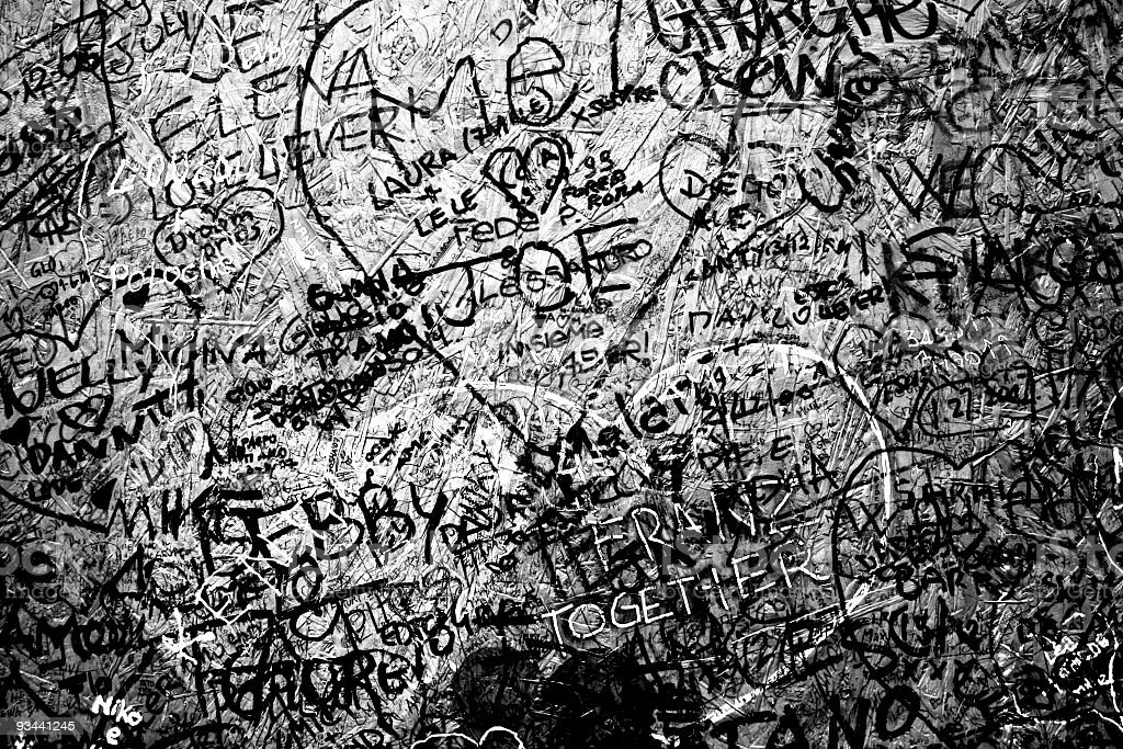 Graffiti in Black and White Confusion Texture Background stock photo