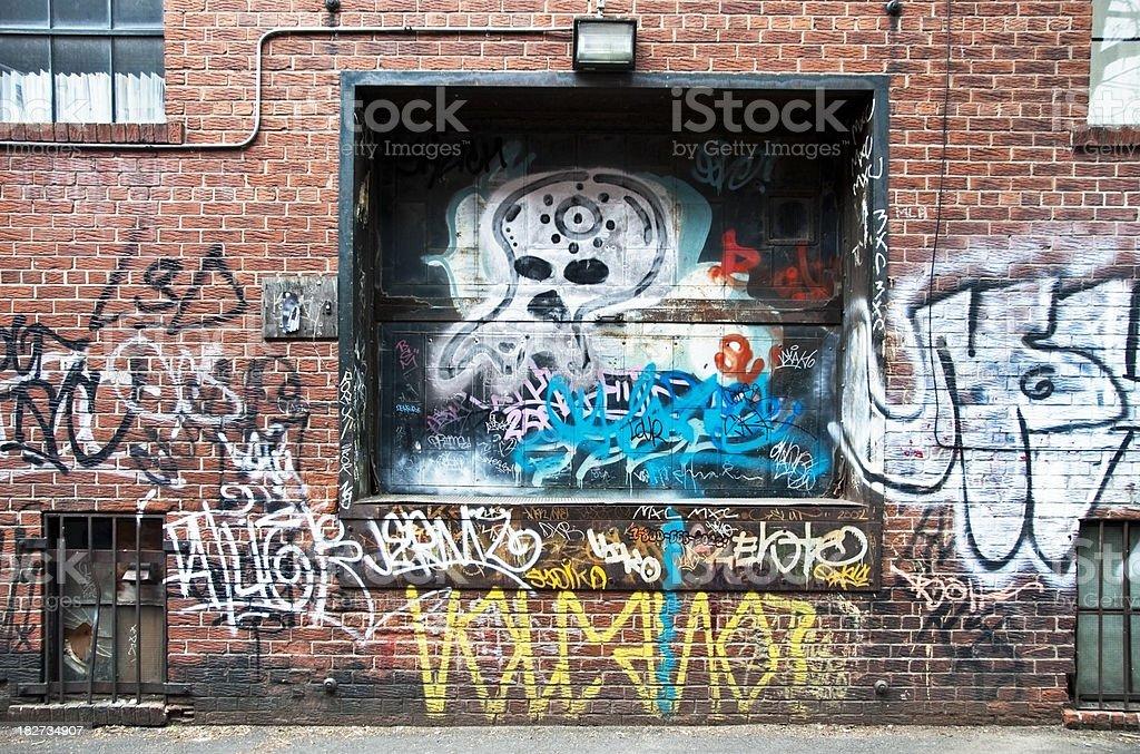 Graffiti Loading Dock royalty-free stock photo