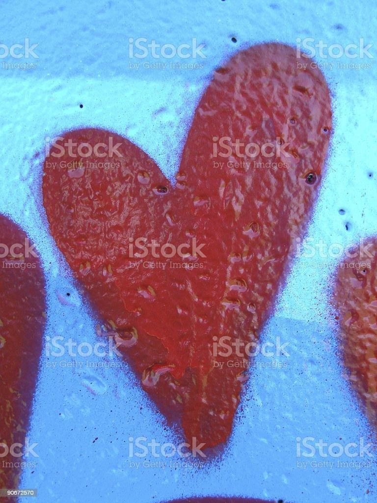 Graffiti Love Heart royalty-free stock photo
