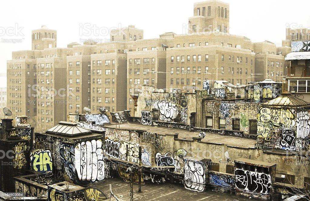 Graffiti, New York stock photo