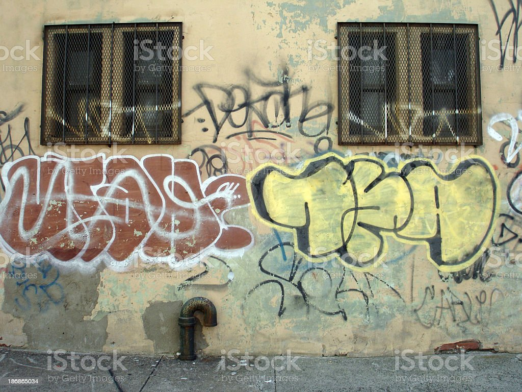 Graffiti On Building royalty-free stock photo