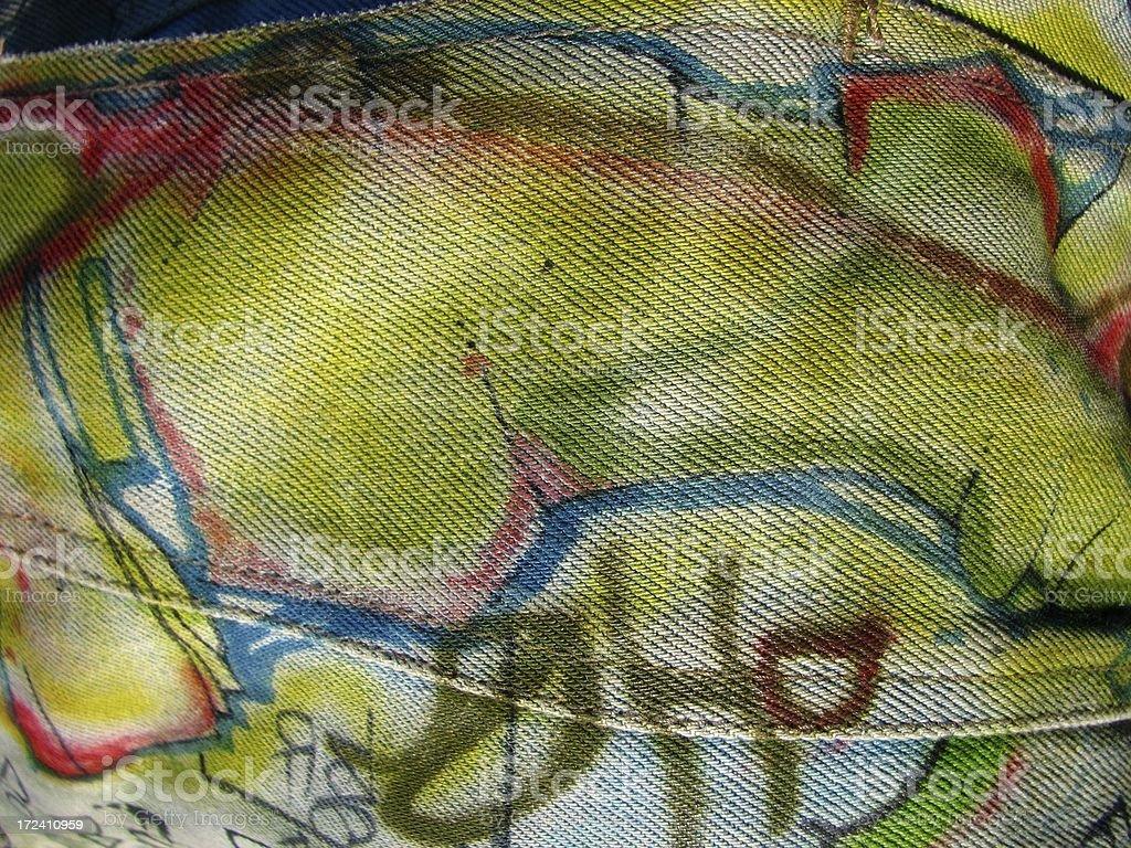 Graffiti auf Tuch Lizenzfreies stock-foto
