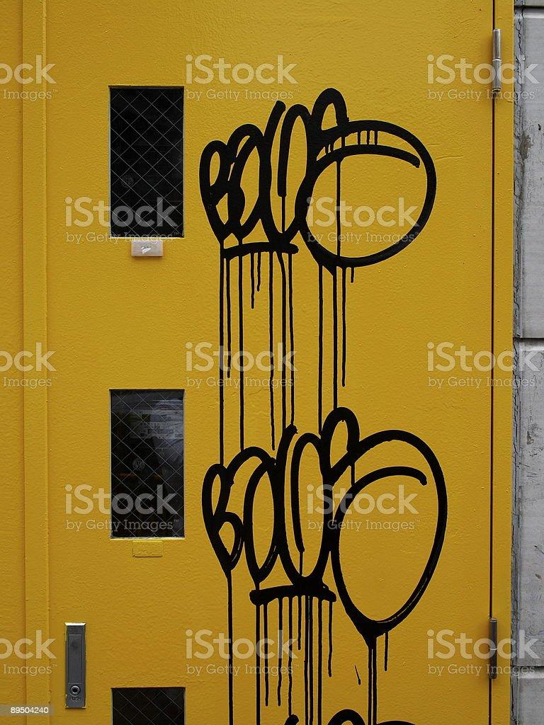 graffiti on door stock photo