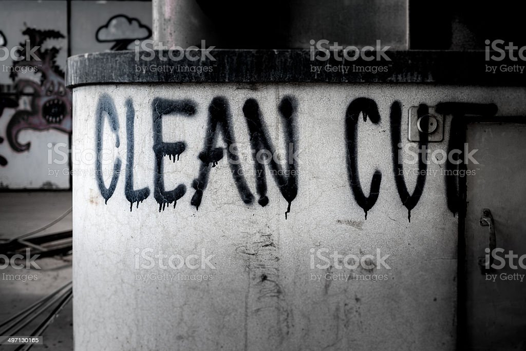 Graffiti on old building royalty-free stock photo