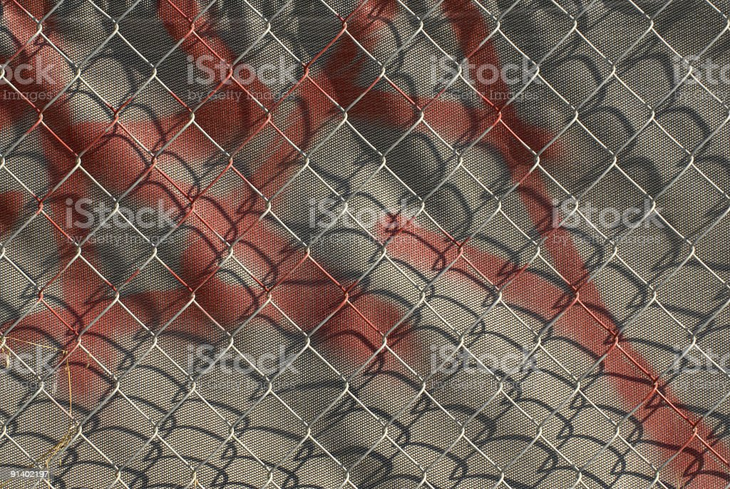 Graffiti on the fence stock photo