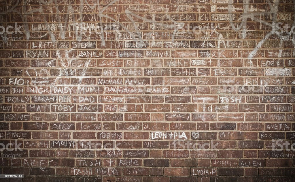 Graffiti on the Wall royalty-free stock photo