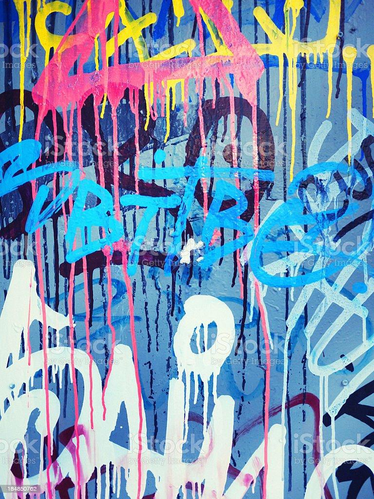 graffiti painted wall stock photo