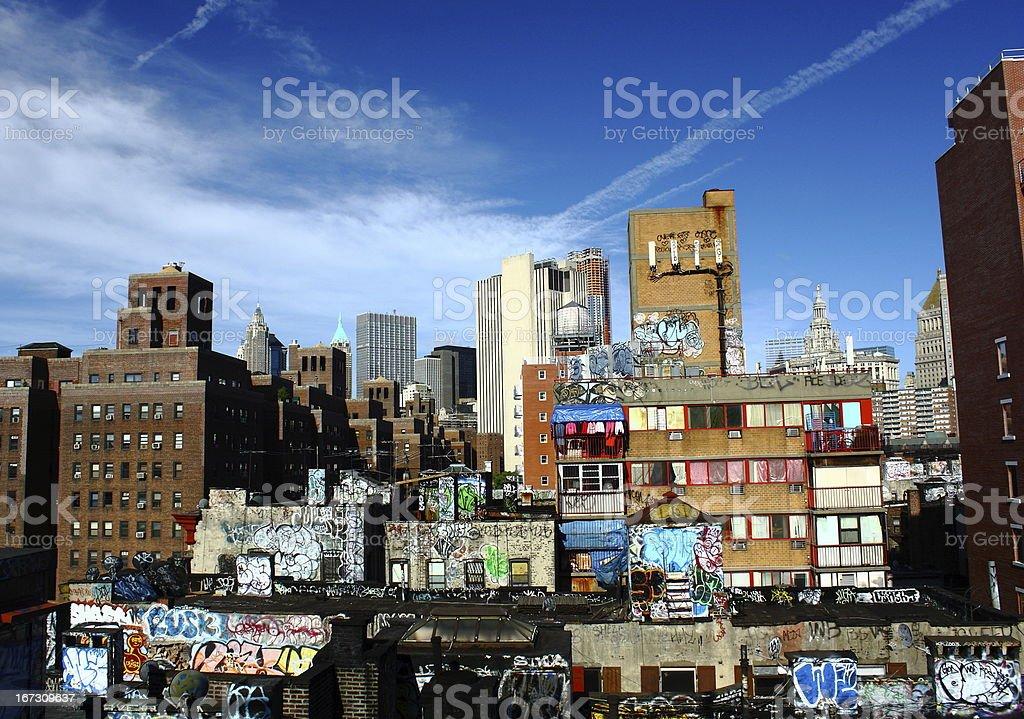 NYC Graffiti stock photo