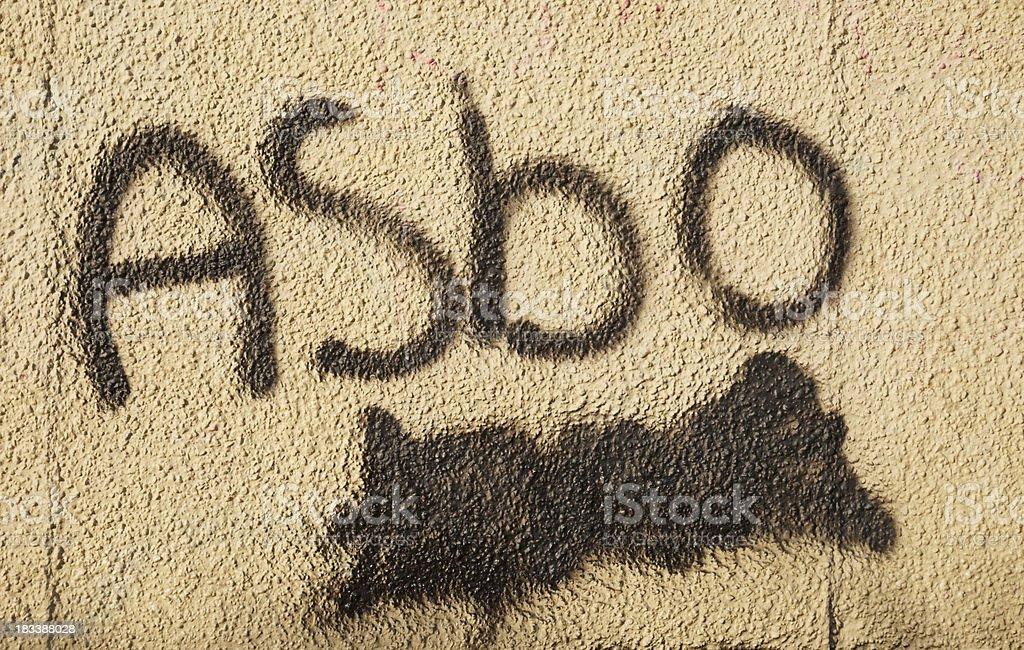 ASBO Graffiti stock photo