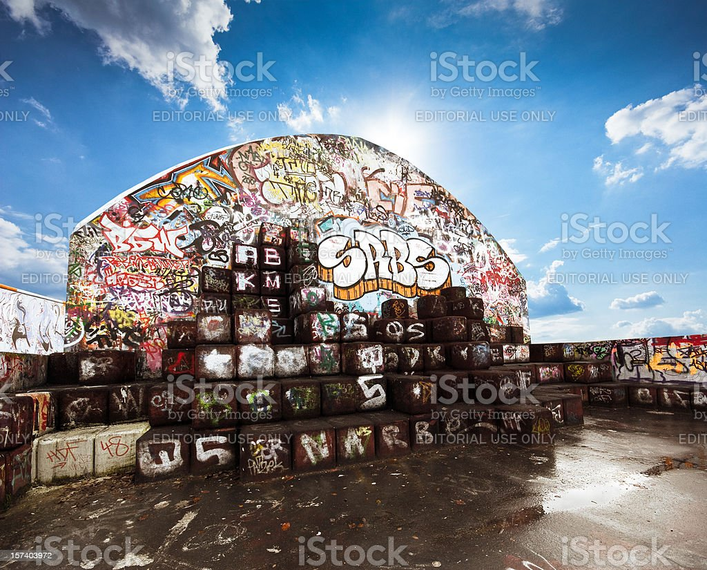 Graffiti playground royalty-free stock photo