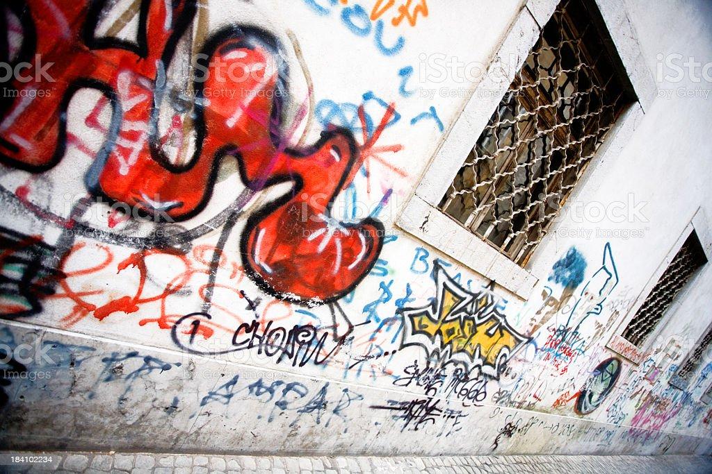 Graffiti street stock photo